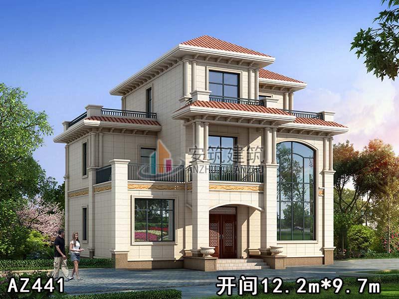 国家建筑强制性标准_130平三层安筑别墅图纸,12*10米自建房设计图,AZ441